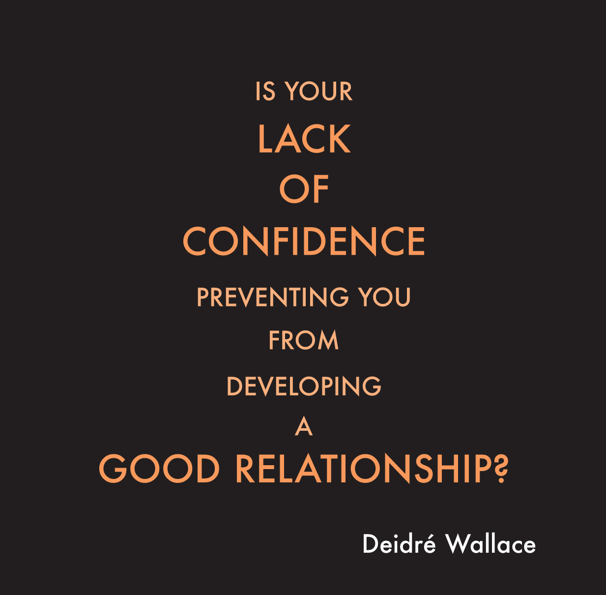 developing self confidence in a relationship