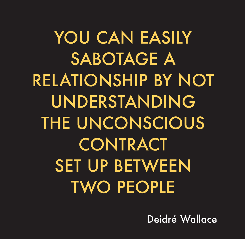Sabotaging a relationship subconsciously