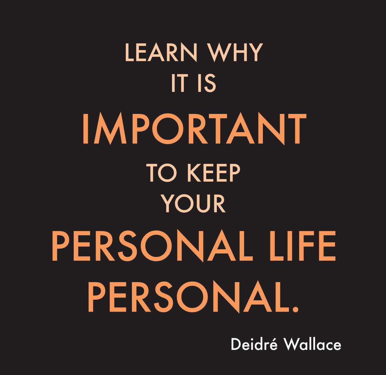 personal why important keep relationship learn realities system